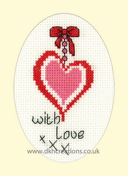 With Love Card Cross Stitch Kit